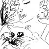 ...and her cat/Pen on paper/14x11in/2021