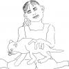 ...her cat III/Pen on paper/18x24in/2021
