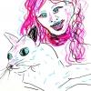 ...her cat VI/Pen on paper/12x8.5in/2021