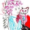 ...her cat VIII/Pen on paper/8x8in/2021