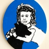 ...her dog XIV/Acrylic on oval canvas/10x8in/2021